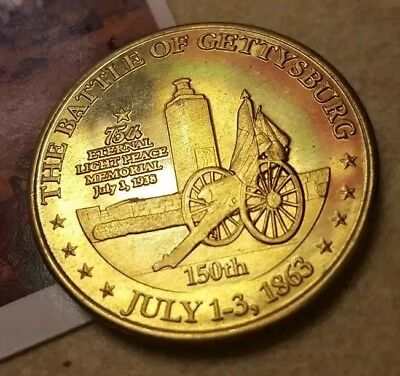 Civil War Token Sesquicentennial Commemoration of the Battle of Gettysburg