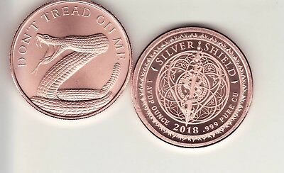 DON'T TREAD ON ME  1 oz. Copper Round Coin from Silver Shield  2018