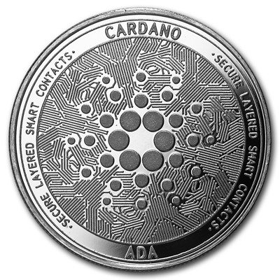 Bitcoin Cryptocurrency Cardano (ADA) - In Code We Trust 1 oz Silver BU Round