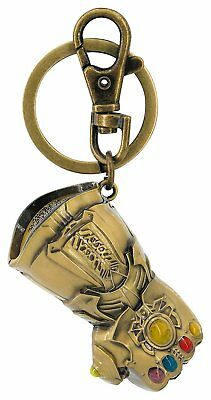 Marvel Avengers Infinity Gauntlet Colored Pewter tKeychain Key Ring With Clip