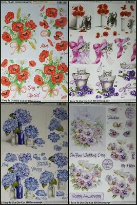 3D Dufex Paper Tole Decoupage Sheet Stunning Gardening Pictures Borders Foil NEW