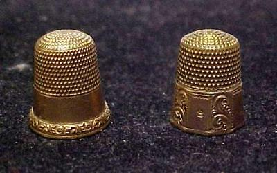 Great Antique Gold Filled Thimble Lot