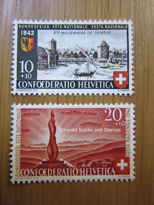 EBS Switzerland Helvetia 1942 Pro Patria set 2000 years Geneva 408-409 MNH**