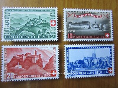 EBS Switzerland Helvetia 1944 Pro Patria set Battle St Jacob 431-434 MNH**