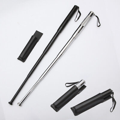 Hangable Black Self-defense Four Sections Telescopic Sticks Portable Retractable