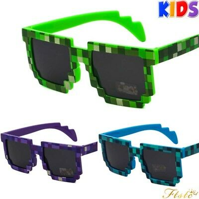 Kids Pixel Game Low Resolution 8 Bit Sunglasses Boys Girls UV400