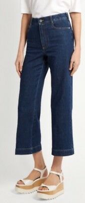 81ab0d501379 STELLA MCCARTNEY JEANS Wide Leg Cropped Snap Up Leg Size 24 Nwt ...