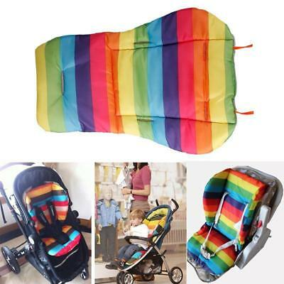 Cute Waterproof Cushion Padding Liner Seat Pad Rainbow For Baby Stroller Pram