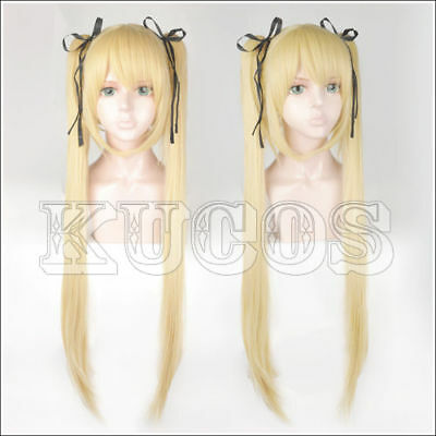 Dead Or Alive Marie Rose Blond Styled Cosplay Wig + Free Black Ribbon