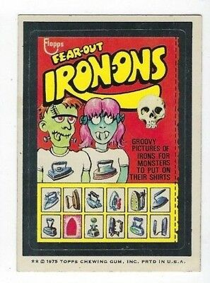 1975 Topps Wacky Packages 15th Series 15 FEAR-OUT IRON-ONS ex+
