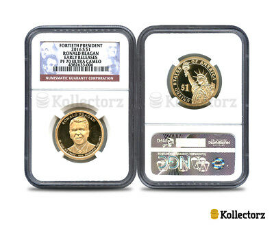 2016 S Fortieth President Reagan $1 Ngc Pf70 Ultra Cameo Early Releases!!!
