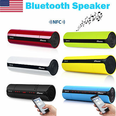 Wireless Bluetooth V3.0 Touch NFC Speaker LCD FM Radio Music Player 3.5 mm Audio