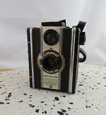 Vintage Coronet Twelve - 20 Box Camera Made in England