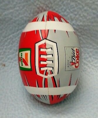 "7-11 & Diet Coke Mini Plush Football By  Sports Enthusiasts Inc. Red & Grey 6""*"