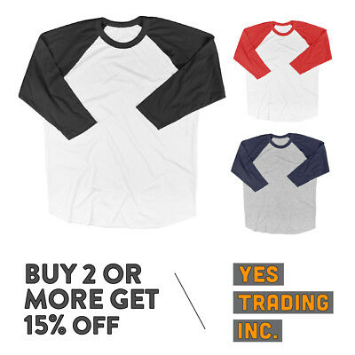 Kids Baseball T Shirts Raglan Tee 3/4 Sleeve T Shirts For Kids Boys Girls
