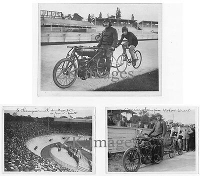 STAYER Demi-fond Cyclisme 3 Photos SERES LINART 20/30s