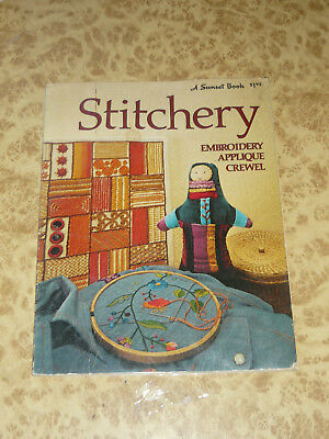 STITCHERY Vintage 1974 Sunset Book Vintage Embroidery Appliqué Crewel Craft