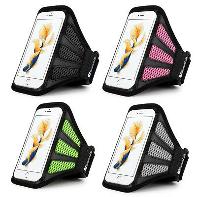 SumacLife Running Jogging Gym Sports Mesh Armband Case Holder for Various Phones