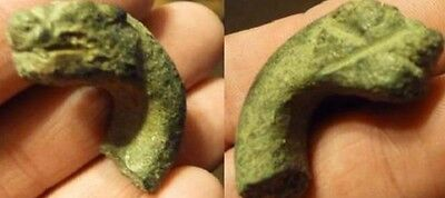 Roman Bronze Griffin Head Artifact.38Mm.. Heavy 34Gms..1St-3Rd.ad