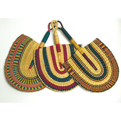 African Handcrafted Fan Burkina Faso Hand Woven