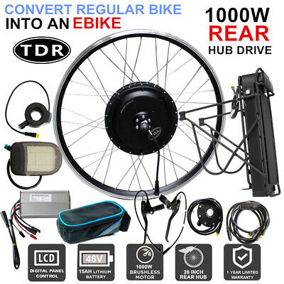 48V 1000W Motor Electric Bicycle Kit 15Ah Li-ion Battery + Double-Layer Rack