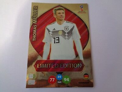 Card Adrenalyn  Panini Russia 2018 Limited Edition Thomas Muller Germany Nuova