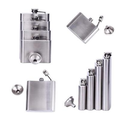 Portable Stainless Steel Wine Pot Hip Liquor Whiskey Alcohol Flask Cup Funnel