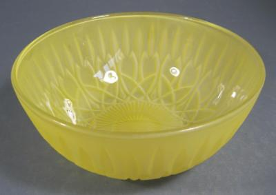 Vintage-style glass fruit or sweets bowl- flashed yellow embossed