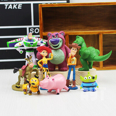 12pc Toy Story Woody Jessie Buzz Lightyear Rex Alien Hamm Action Figure Doll Toy