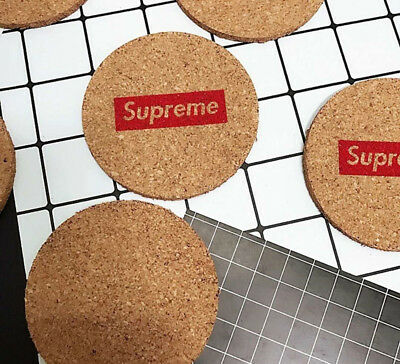 Supreme Printed On Mats Hard Wooden Coaster Cup Cushion Drink Placemat Mat Gift