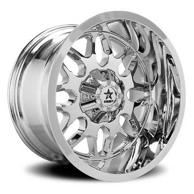 24x14 RBP 73R Atomic Chrome Wheels 8x6.5 (-76mm) Set of 4