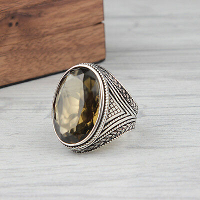 Handmade 925 SILVER ring Smoky Quarts color changing Zultanite  stone RRP £40
