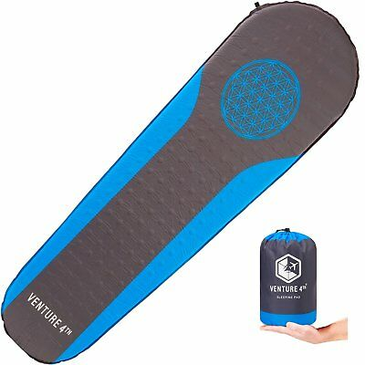 Self Inflating Sleeping Pad  No Pump or Lung Power Required  Warm Quiet Mattress