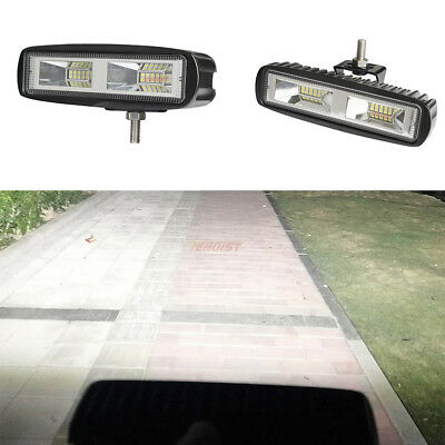 LED Working Light Flood Beam Bar Driving Fog Lamp Offroad 4WD SUV ATV 6Inch 60W