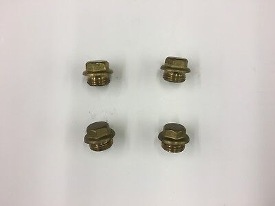 """1/2"""" BSP Brass Blanking Plug Male End (Pack of 4)"""