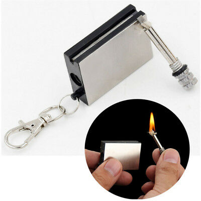 Lasting Match Box Keychain Outdoor Camping Durable Starter Fire Lighter Survive