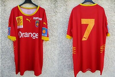 Maillot rugby USAP PERPIGNAN n°7 shirt camiseta PUMA 2006 vintage collection XXL