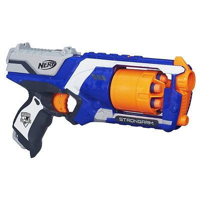Nerf N-Strike Elite Strongarm Blaster Kids Toy Dart Gun With 6 Darts