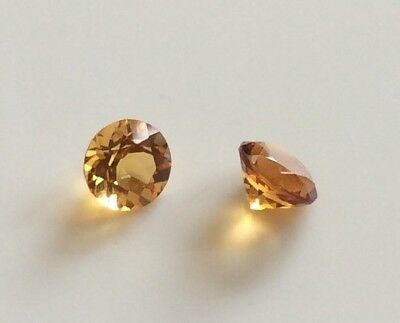 1 Pc Round Cut Shape Natural Citrine 6Mm Faceted Loose Gemstone