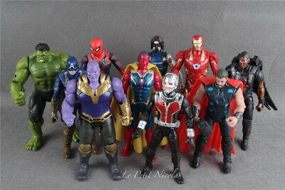 Nouveau Film Avengers Infinity War lot de 10 Figurines Ironman Thanos modèles