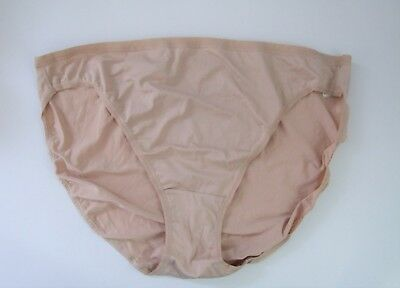 M & S Size 8 NO VPL High Leg Knickers Panties Briefs microfibre silky Natural