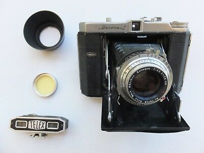 Vintage Dacora I  f 3.5 / 75mm Folding Camera Case & Accessories