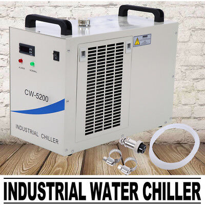 CW-5200 Industrial Water Chiller Chilling for 150W CO2 Laser Tube Cooling 220V