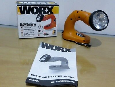 Vintage Worx 18v 310 Degree Rotating 325 Lumens Work light like new Skin Only