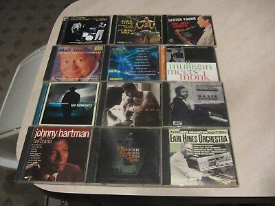 Mixed lot of 12 Jazz CD's nice shape-FROM ESTATE lot 4