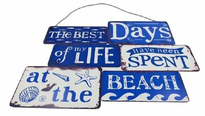 Country Tin Sign Vintage French Inspired Wall Art BEST DAYS OF LIFE AT BEACH ...