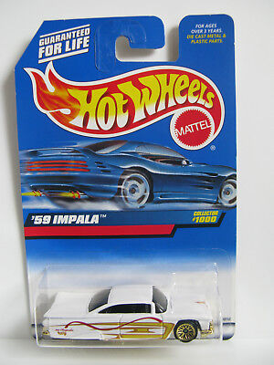 Hot Wheels 1999 - '59 Chevy Impala Blue Card Collector