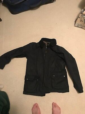 Barbour Ashby Mens Waxed Jacket Black L