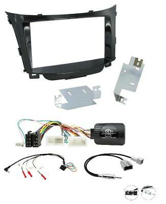 Hyundai i30 2012-2017 Complete Double Din Car Stereo Fitting Kit / steering adp