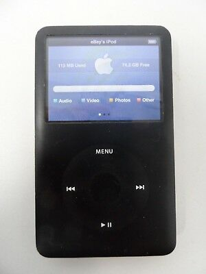 Apple iPod Classic 6th Generation Gen 80GB 80Gig Black MP3 MP4 Player A1238